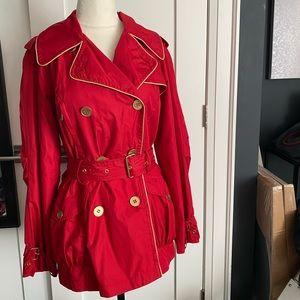 Rachel Zoe Red Trench Coat XS